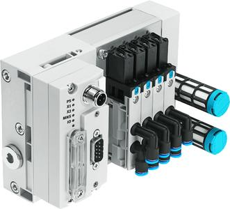 Up to 64 valves on a valve terminal VTUB can be actuated via the bus node module CTEU CANopen. (Photo: Festo)