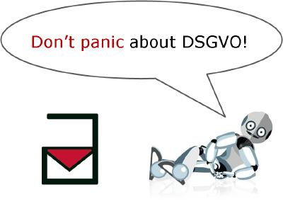 Don't panic about DSGVO!