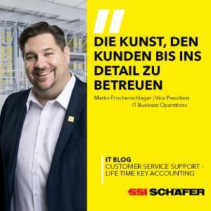 Martin Frischenschlager, Vice President IT Business Operations bei SSI Schäfer