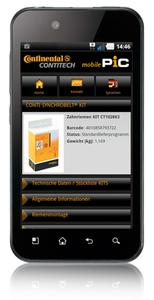 The ContiTech Power Transmission Group has created a version of the Product Information Center (PIC) that has been optimized for Internet-capable cell phones, Photo: ContiTech