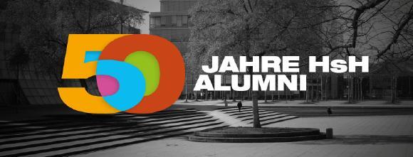"""Die Hochschule Hannover feiert ihr 50-jähriges Bestehen mit einer digitalen Kampagne rund ums Thema """"Wiedersehen""""."""