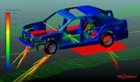 Simulation mit Adams Car (Quelle MSC Software Corporation)