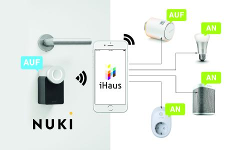 der t r ffner ins smart home ihaus integriert das nuki smart lock ihaus ag pressemitteilung. Black Bedroom Furniture Sets. Home Design Ideas
