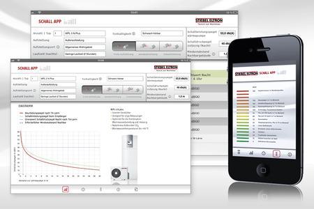 Die Schall-App von Stiebel Eltron hilft bei der Bewertung von außen aufzustellenden Luft-Wärmepumpen hinsichtlich Geräuschentwicklung und notwendige Abstände beispielsweise zum Nachbarn