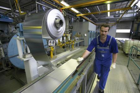 Produktionsszene in St. Leon-Rot