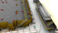Dematic automatisiert das neue Service Center Europe von Trelleborg Sealing Solutions in Stuttgart unter anderem mit einer AutoStore®-Anlage für die automatische Lagerung und Kommissionierung von Kleinteilen. (Rendering: Dematic)