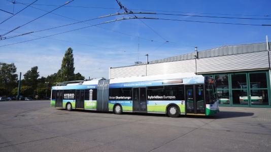 Hybrid-Oberleitungsbus Eberswalde
