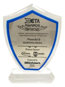 "Die Tochtergesellschaft HARTING Indien ist vom Fachmedium BISinfotech zur ""Best Connector Company"" ausgezeichnet worden. Das Medium verlieh den begehrten BETA Award (BIS Excellence & Technovation Awards) in dieser Kategorie"