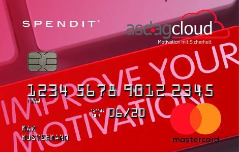 """asdagcloud Extra-Clou: wenn statt des im Standard ausgelieferten Prämienshops die SpendApp """"Mastercard"""" verwendet wird, fließen die Punkte beider Konten als Euro-Betrag auf einer speziellen Spendit-Gutschein-Mastercard zusammen und können damit wie Bargeld verwendet werden"""