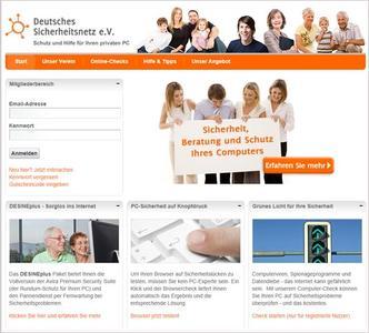 Internetseite des Deutschen Sicherheitsnetz e.V. - www.desine.de