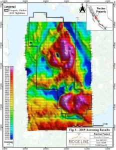 Delrey modelliert große geophysikalische Anomalien auf Blackie, Porcher und Star vorkommen