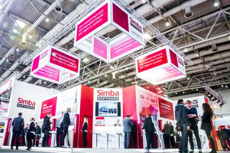Simba n³ Software am CeBIT Stand der Simba Computer Systeme GmbH