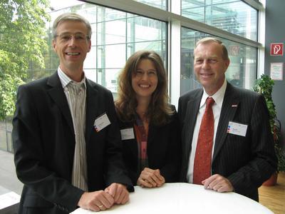 Prof. Klaus Tochtermann, Know-Center Graz, Doris Reisinger, Geschäftsführerin m2n, Linz, und Dr. Arthur Winter, Bundesministerium für Finanzen