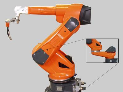 (Foto1) QIROX®-Hohlwellenroboter Typ QRH mit integriertem Schlauchpaket, wahlweise als 6- oder 7-Achs-Ausführung