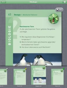 Lernkarte und Quickview-Leiste