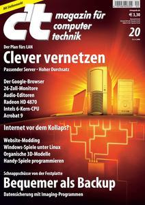 Das Titelbild der aktuellen c't-Ausgabe 20/2008