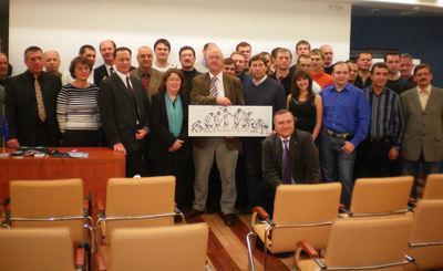 Gründungsmitglieder der DVS-Fachgruppe Baltikum und Lehrgangsteilnehmer