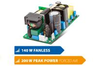 """Compact, fanless and powerful: Highly efficient 2x4"""" power supplies with industrial & medical approvals"""