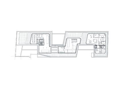 Grundriss 6. OG Penthouse. Bild: Turmcarrée Grundstücksgesellschaft mbH & Co. KG
