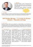 [PDF] Pressemitteilung: SAP Solution Manager ® 7.2. für die Life Science Industrie - Potenziale und Gaps