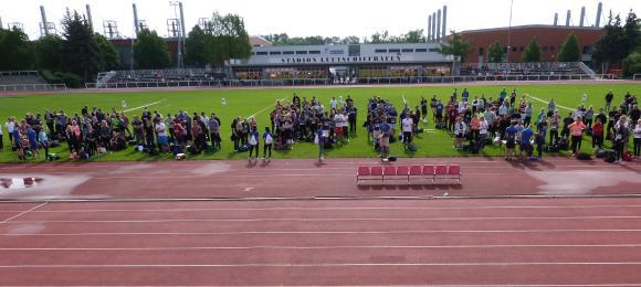 Sporteignungsprüfung im Stadion am Luftschiffhafen, 2016 (Foto: Jim Förster)