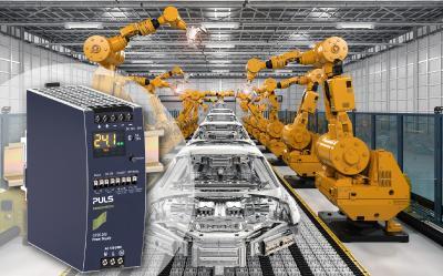 Das Hutschienen-Netzteil CP20.248 ist ideal für den Einsatz in der Automobilfertigung.
