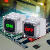 LED Illuminated Pushbutton Switches from knitter-switch can display two different messages