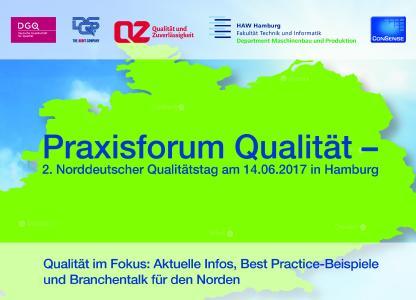 Das Praxisforum Qualität in Hamburg gibt in Theorie und Praxis Antwort auf die Fragen zu neuesten Trends, Entwicklungen und Ereignissen im QM-Bereich