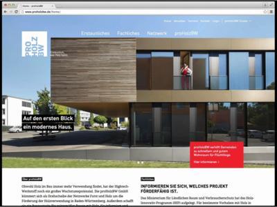 Über die Aufgaben, Ziele, Aktivitäten und Akteure der proHolzBW GmbH informiert umfassend die Website www.proholzbw.de (Bildquelle: proHolzBW, Ostfildern; www.proholzbw.de)
