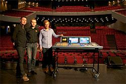 From left: Gary Payne, Sound Engineer; Morten Laulund Uldbæk, Matrix Sales — MIDAS KLARK TEKNIK product manager DK; Jonas Knive, Technical Director
