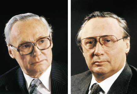 Brothers Dr. Wilhelm Schaeffler (left) and Dr.-Ing. E.h. Georg Schaeffler laid the foundation for today's company in 1946 / Images: Schaeffler