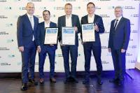 The 3 finalists (our ROSTA CEO Urs Stieger on the right side with the award) at the AKB award 2019