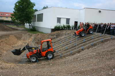 Teilansicht des neuen Vorführ-Parcours, der noch weiter ausgebaut und bepflanzt wird