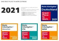 Beste Arbeitgeber 2021 - noventum Prämierungen
