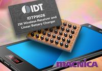 IDT Announces World's Smallest 2-Watt Wireless Power Receiver for Wearable Devices