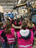 Exploring the cable works: On Girls' Day at LAPP, the pupils see how a cable is made