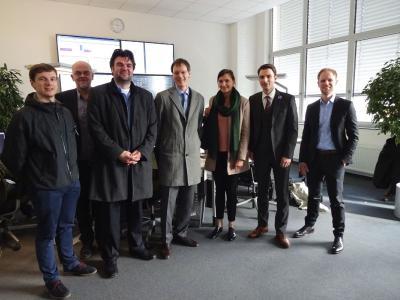 Vertreter des BMWi und der Stadt Leipzig zu Besuch bei der Energy2market GmbH.