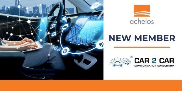 Networked mobility – achelos becomes a member of the CAR 2 CAR Communication Consortium and provides expertise in a market with rapidly growing cyber security requirements (Image: achelos GmbH)