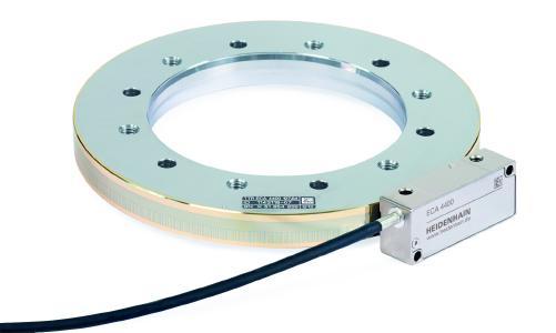 Für sicherheitsgerichtete Anwendungen: Das absolute Winkelmessgerät ECA 4000 in der Functional Safety-Ausführung verfügt über einen Zentrierbund am Innendurchmesser