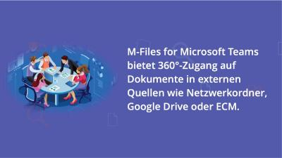 M-Files integriert intelligentes Informationsmanagement in Microsoft Teams