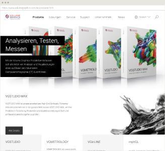 Volume Graphics Website Desktop Ansicht Produktübersicht