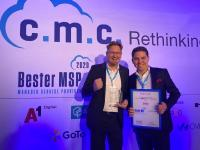 Marcus Jahnke & Stefan Sicken bei der Verleihung zu den besten Managed Service Providern Deutschlands