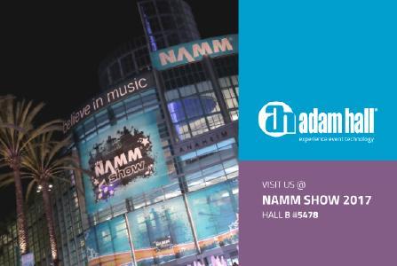 Adam Hall Group notizie al Winter NAMM 2017