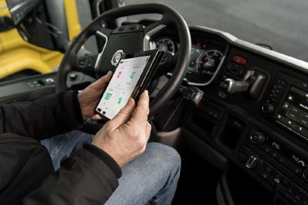 Die Plattform bietet Zugang zum Scania Fleet Management, einem Überwachungs-und Analysesystem, das Fuhrparkbesitzern einen Überblick über Fahrzeug und Fahrer ermöglicht. Bild: Scania