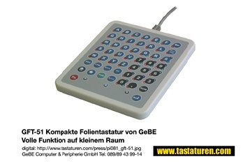GFT-51 Industrial Membrane Keyboard with Ghost-Key-Detection