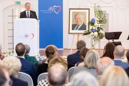 Siegbert E. Lapp bekräftigte das Engagement der Familie Lapp für die Herz-Kreislauf-Forschung