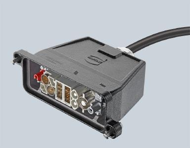 Das neue Han® Gigabit Modul ermöglicht die Cat. 7A-Übertragung im Wagenübergangsbereich und bietet Vorteile für Störsicherheit und Frequenzbreite