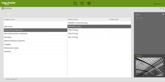 Cumulus & Magnolia Integration Screenshot