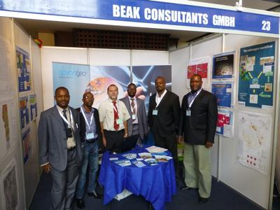 Banro Corporation at Beak Consultants stand in Accra