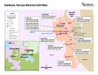 Auryn Intersects 116 meters of 0.58% Copper Equivalent in Historical Drill